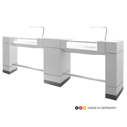 Двойной маникюрный стол для нейл бара
