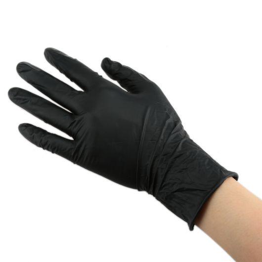 Перчатки нитриловые, черные, Элегрин