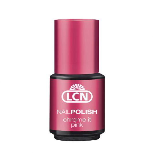 Хромированный лак для ногтей, розовый